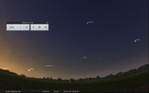 Våra fem närmaste planeter på rad