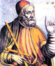 Bilde 2: Ptolemaios. Kilde: Public Domain (http://upload.wikimedia.org/wikipedia/commons/3/36/Ptolemaeus.jpg)