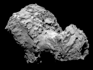 Comet 67P on 3 August - OSIRIS image. Credit: ESA/Rosetta/MPS for OSIRIS Team MPS/UPD/LAM/IAA/SSO/INTA/UPM/DASP/IDA (https://www.flickr.com/photos/europeanspaceagency/14862775903/in/set-72157638315605535)