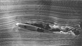Bilde 2: Oppbygging og separasjon av et grenselag på en flyving. Kilde: Dole, Charles E., Flight Theory and Aerodynamics, 1981, John Wiley & Sons, Inc, New York, NY, 1981.
