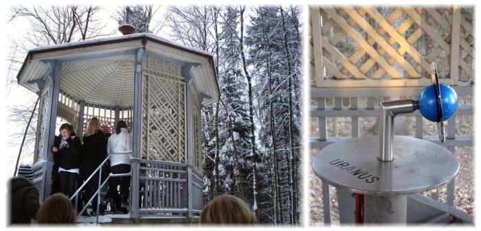 Uranus i lusthuset nedanför Villa Elfvik