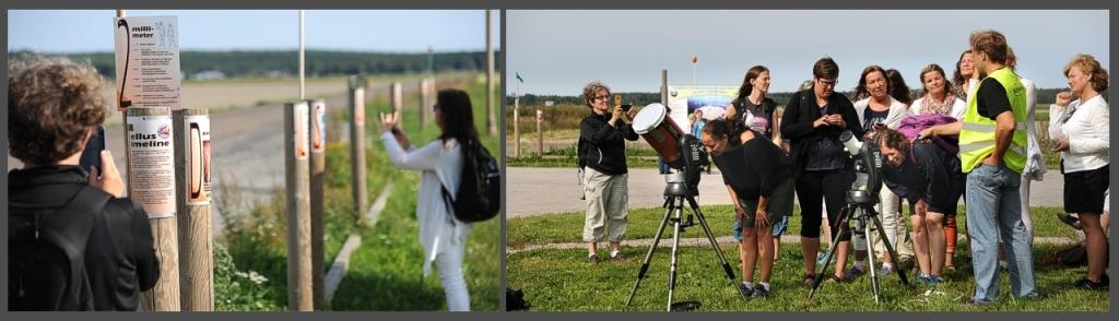 Aktiviteter ute vid Meteorian i Söderfjärden