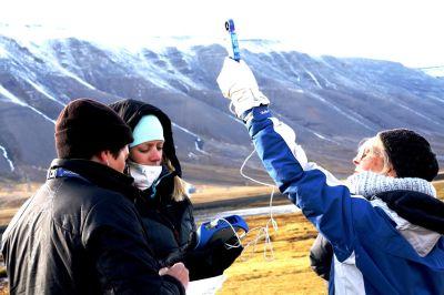 Mätning av vindhastighet pågår med hjälp av SPARK datalogger.