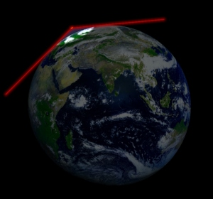 En satellit nära jorden kan ge noggranna data, men kan bara överföra data när den passerar över - eller i närheten av - sin basstation.