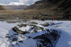 Longyearbreen mot Longyearbyen