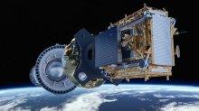 Sentinel 1-B placeras i sin omloppsbana. Bild: ESA/ATG medialab