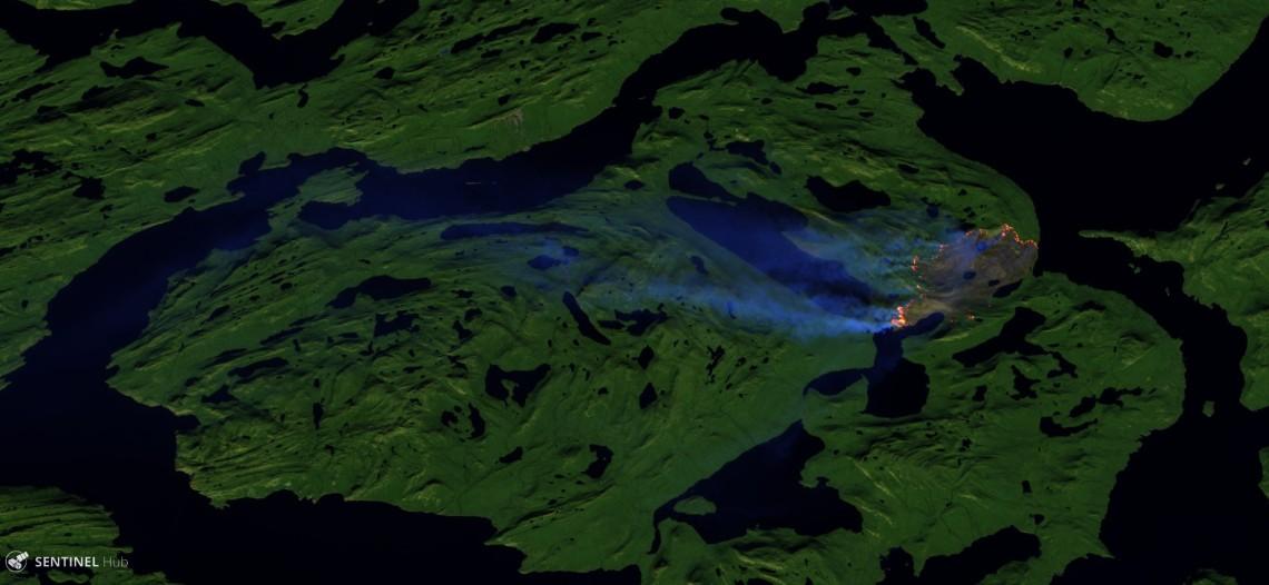 Sentinel image on 2017-08-08