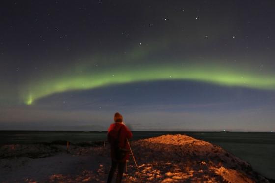Fotografering af nordlys ved Andøya Foto: Lene Agertoft