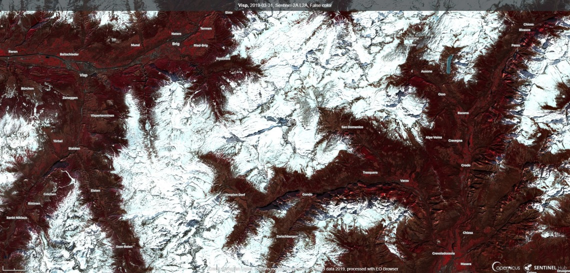 2019-03-31, Sentinel-2A L2A, False color (1)