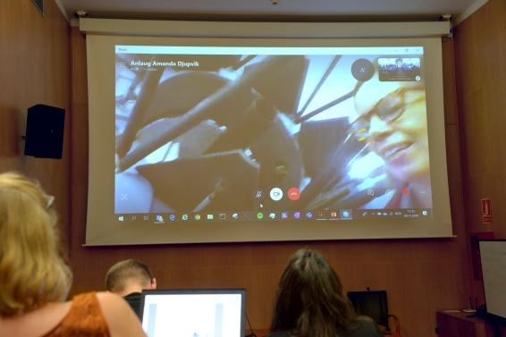 Amanda Djupvik på NOT - via skype